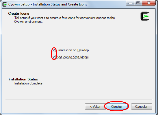 Cygwin installation screen - Step 10