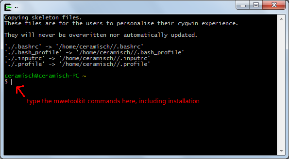 Cygwin installation screen - Step 11